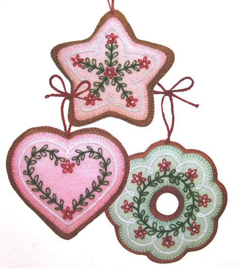 ornament patterns sewing wool felt cookie tree ornaments vintage sewing