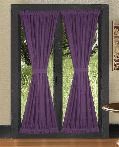 door curtains solid purple colored door curtain available in