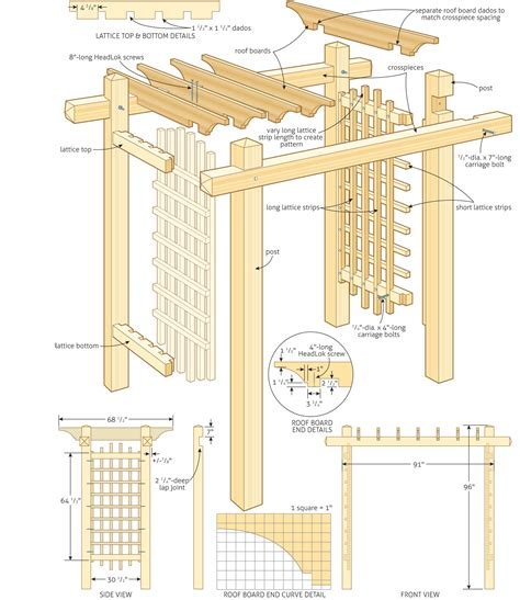 pergola blueprints free pergola construction plans free furnitureplans