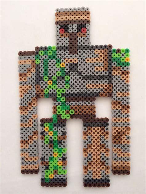 how to iron perler minecraft iron golem perler perler bead designs