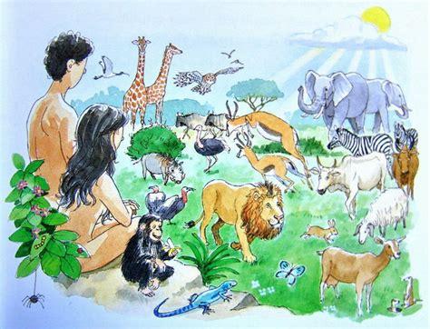 Kinderbibel Der Garten by Abbildungen In Bibeln Paradies Adam Und