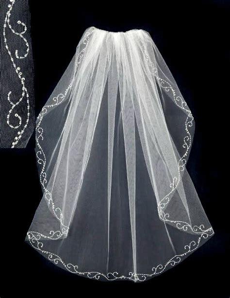beaded trim for veil beaded wedding veil with seed bead swirl trim