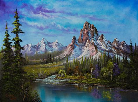 bob ross of painting uk majestic morning painting by c