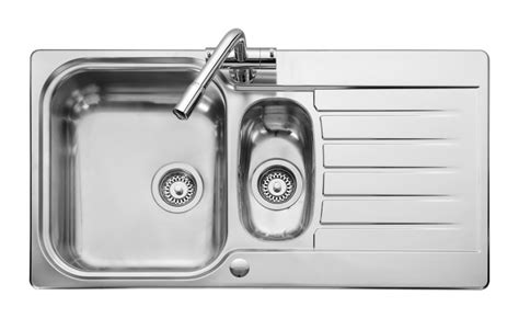 kitchen sinks 1 5 bowl leisure seattle se9502 1 5 bowl 1th stainless steel inset