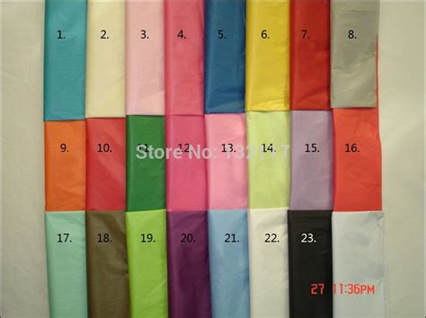 coloured wholesale free shipping wholesale 50sheets lot mix colored tissue