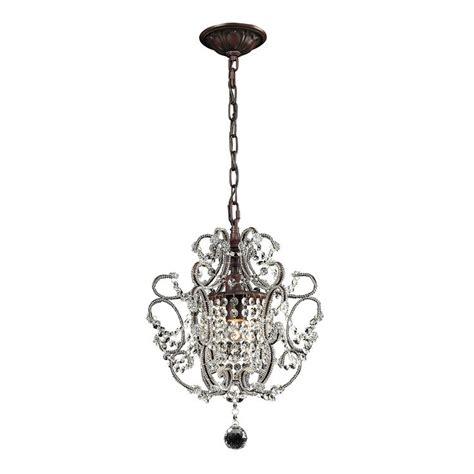 lowes mini chandelier westmore lighting 1 light rust chandelier pn5122