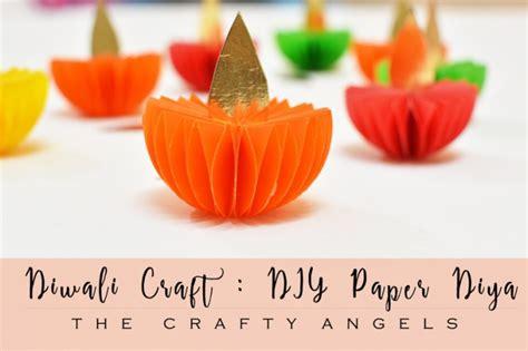 diwali crafts for easy diwali craft paper diya tutorial