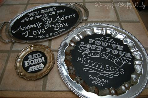 diy chalkboard plate diary of a crafty diy chalk sayings on platters