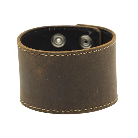 leather wristbands for brown cuff leather wristband bracelet by 81stgeneration ebay