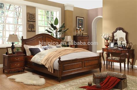 wooden bed set classic wooden simple bedroom set american size bed