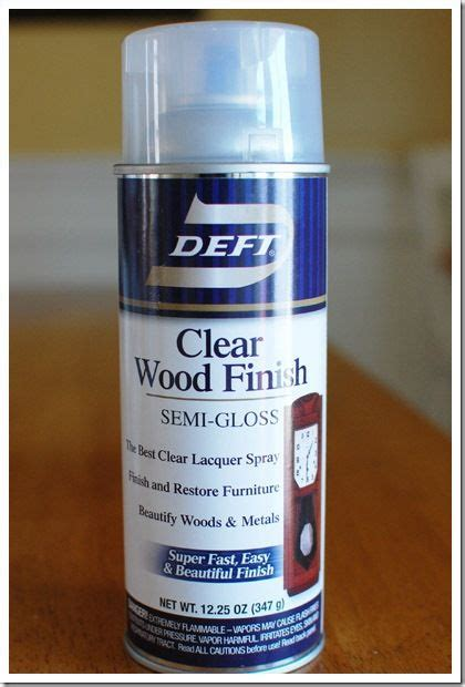 spray painting varnished wood clear finish to spray painted wood diy