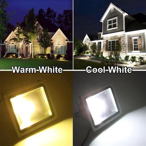 landscape lighting 20w vs 50w led floodlight 10w 20w 30w 50w waterproof ip65 led outdoor spotlight grey aluminum shell cool