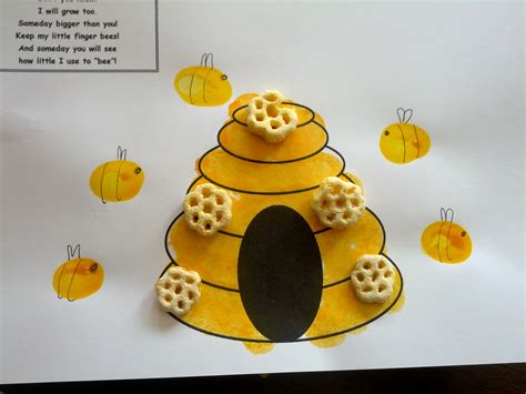 bee crafts for bee fingerprint craft teaching teaching
