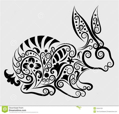 decorative rabbit royalty free stock photos image 24644128