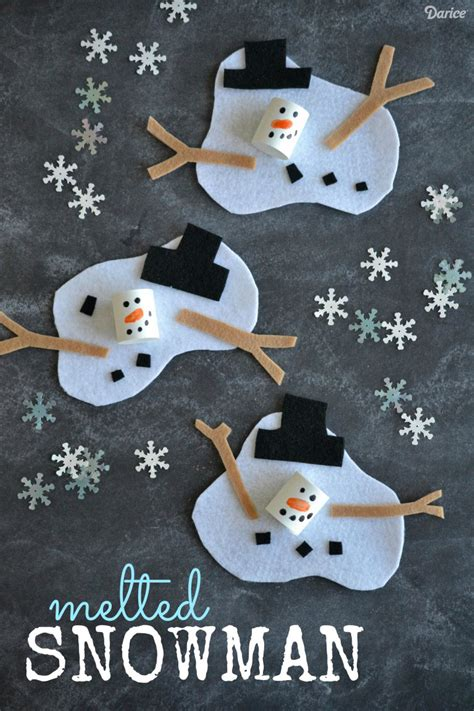 snowman craft ideas for melted snowman craft project for darice