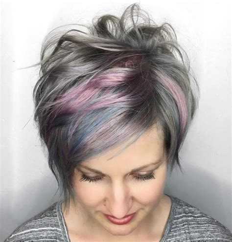 pictures of grey hairstyles with pink highlights 25 best ideas about gray hair highlights on pinterest