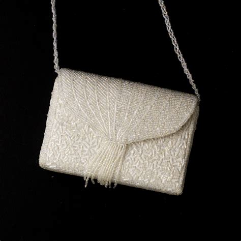 beaded evening bag fabulous white wedding beaded evening bag