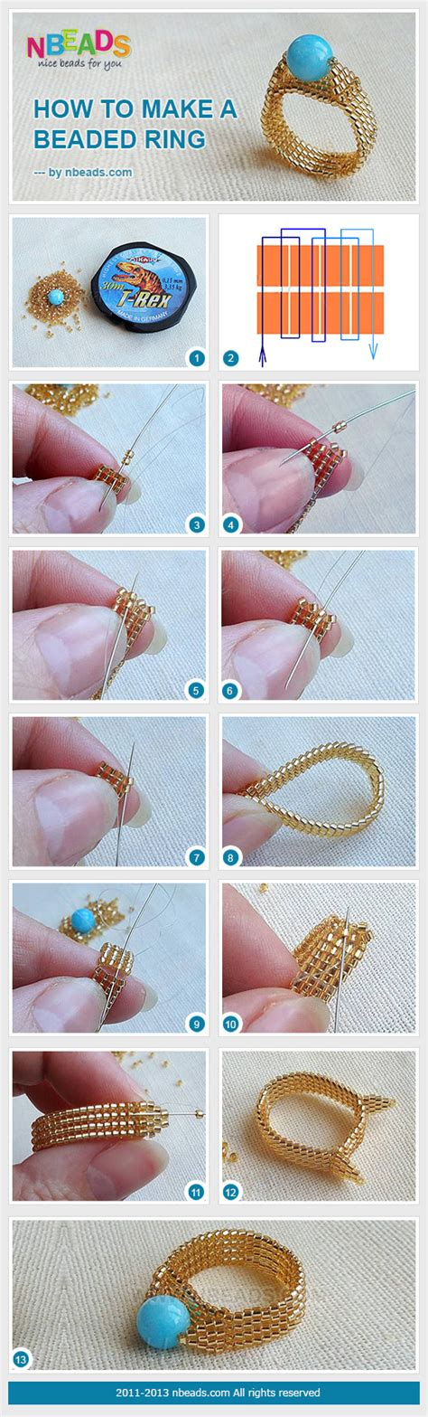 how to make beaded rings how to make a beaded ring nbeads