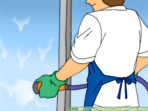 how to clean scum shower doors how to clean soap scum from glass shower doors 7 steps