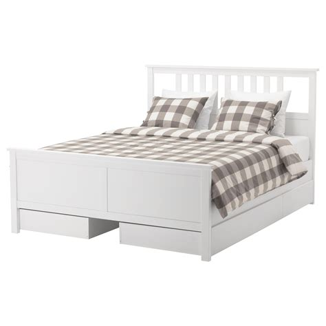 hemnes king bed frame hemnes bed frame with 4 storage boxes white stain lur 246 y