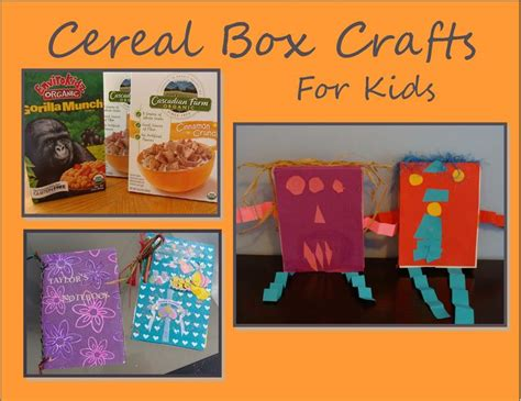 cereal box crafts for creative cereal box crafts for