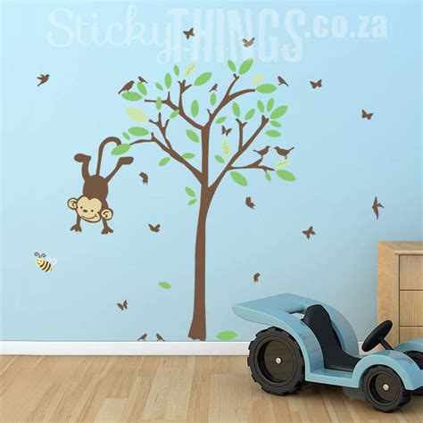 nursery monkey wall decals monkey tree nursery wall decal monkey tree wall sticker