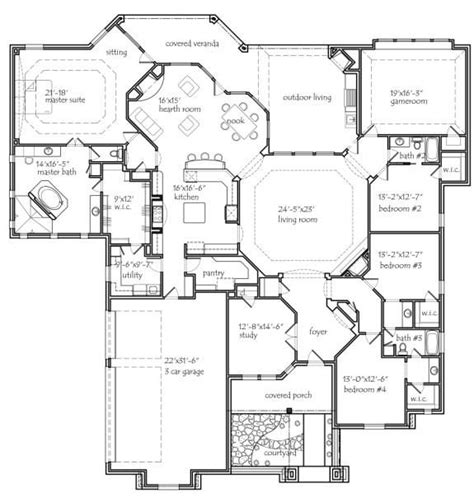 houses plans 25 best ideas about 4 bedroom house plans on