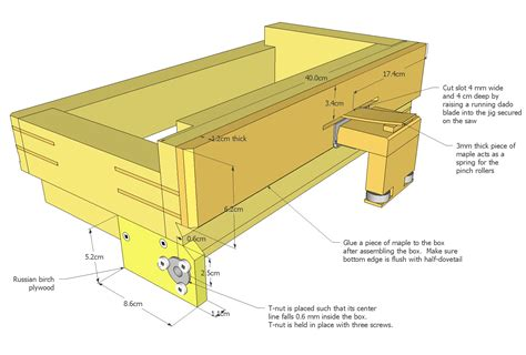 woodworking ca advance box joint jig plans