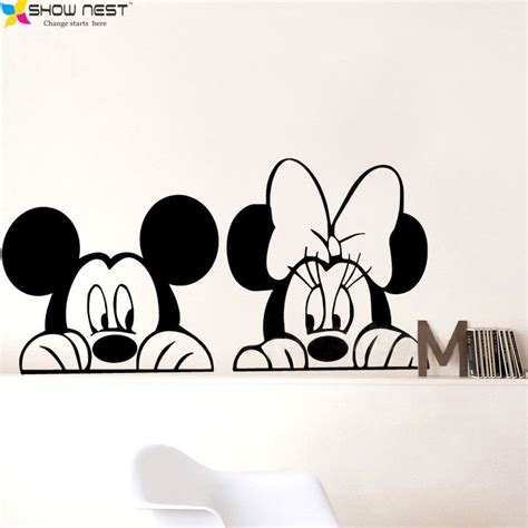 vinyl decals for home decor aliexpress buy free shipping mickey minnie