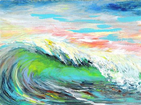 acrylic painting waves sea dean paint a masterpiece luminous wave duo series