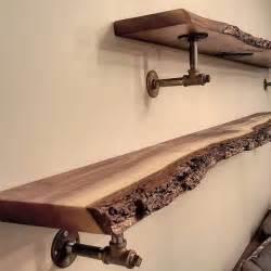 wood plank shelves best 25 reclaimed wood shelves ideas on