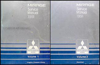 1989 mitsubishi mirage repair shop manual set original 1991 mitsubishi mirage repair shop manual set original