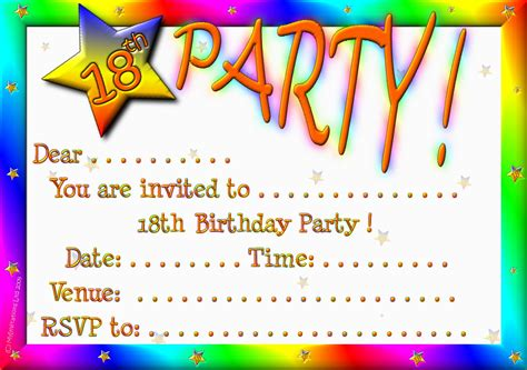 make a birthday invitation card free 18th birthday invitations theruntime