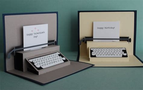 pop up card ideas typewriter pop up card typewriters cards and pop up
