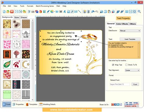 software for cards and invitations wedding card maker software design and print invitation
