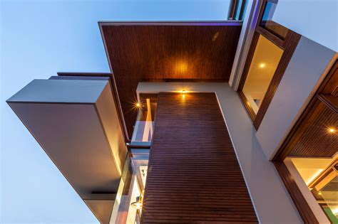 Home Exterior Design India Residence Houses twin courtyard house architected by charged voids