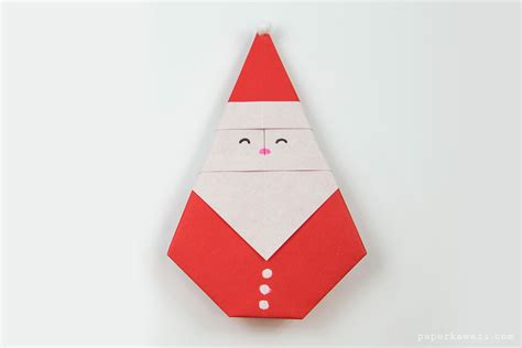 which paper is used for origami easy origami santa tutorial paper kawaii