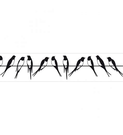 dibujos de cenefas cenefa golondrinas en el tendido el 233 ctrico blanco y negro