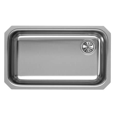 single basin stainless steel undermount kitchen sink elkay undermount stainless steel 31 in single basin
