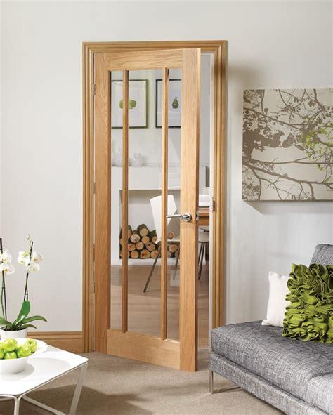 oak doors with glass worcester 3 light oak door with clear glass