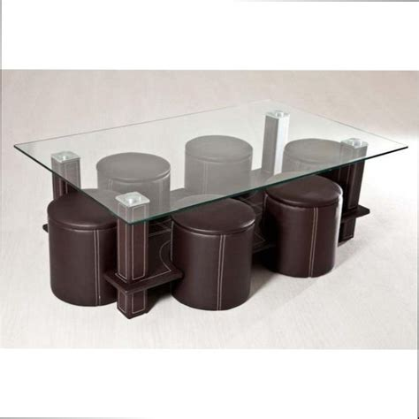 table basse table basse en verre 6 poufs mezzo