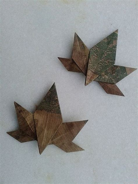 origami maple seed 271 best images about origami leaves on how to
