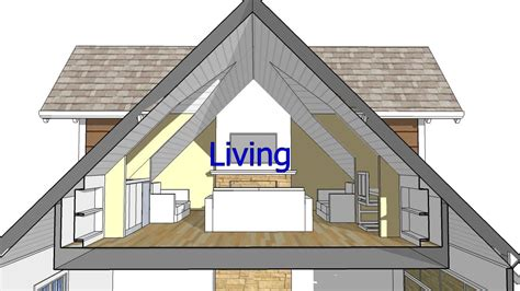 house with attic floor plan design an attic roof home with dormers using sketchup