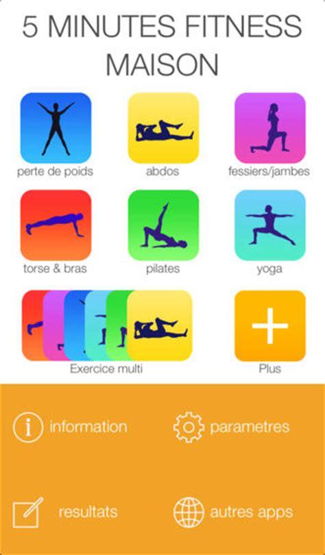 application 5 minutes fitness maison des exercices sportifs rapides