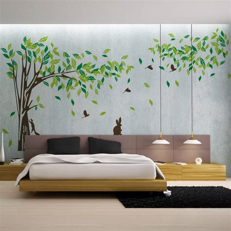 Wall Sticker Decor large wall decal tree removable green wall decor living