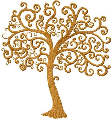 design for tree instant tree of embroidery design machine