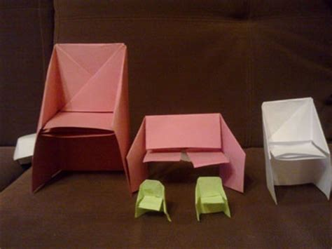 how to make an origami chair origami chair diy