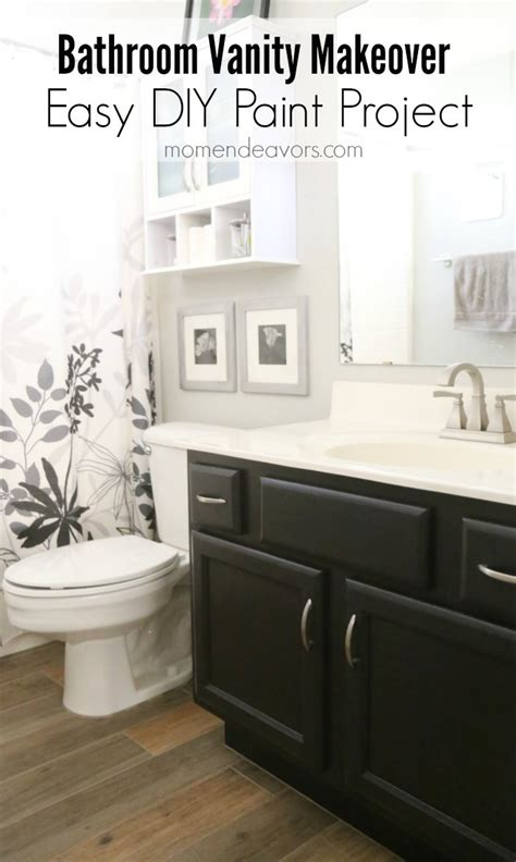 Makeover Bathroom Vanity bathroom vanity makeover easy diy home paint project
