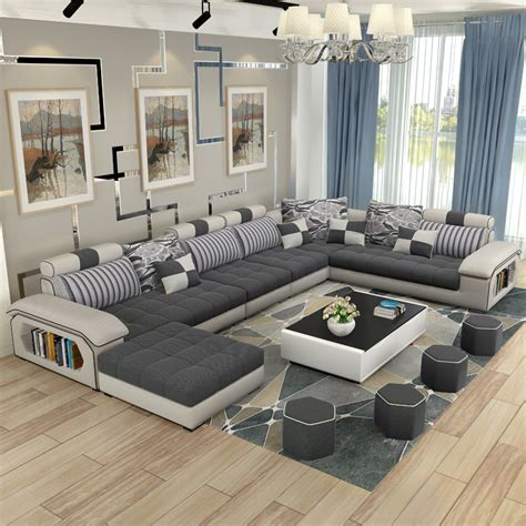 designer sectional sofas luxury living room furniture modern u shaped fabric corner