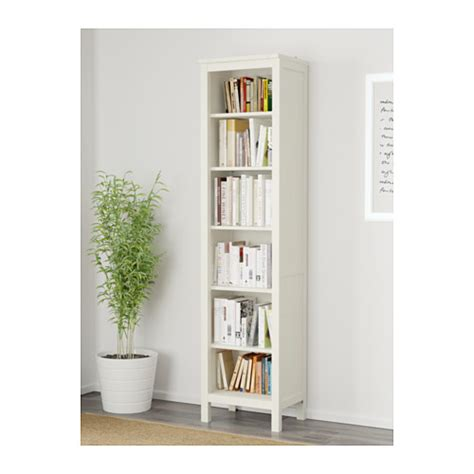 ikea white bookshelves hemnes bookcase white stain 49x197 cm ikea